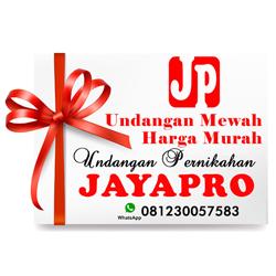 Foto de cetak undangan pernikahan jayapro
