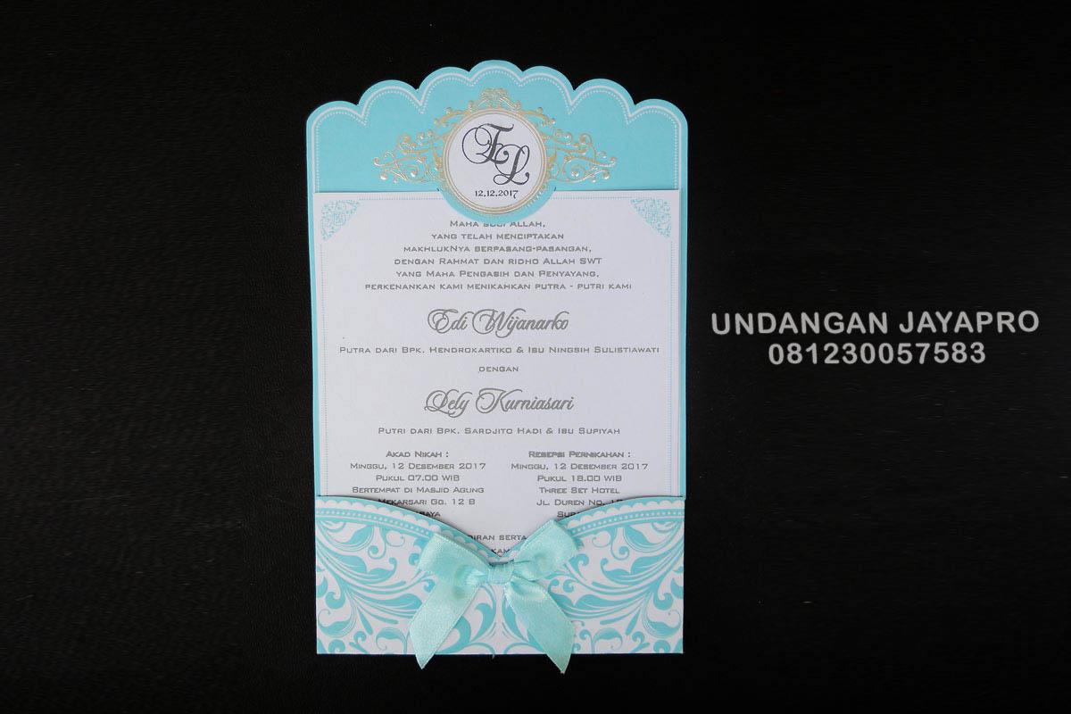 Foto de cetak undangan pernikahan jayapro Malang